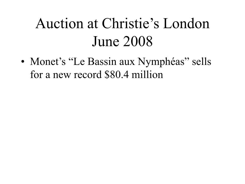 Auction at Christie's London
