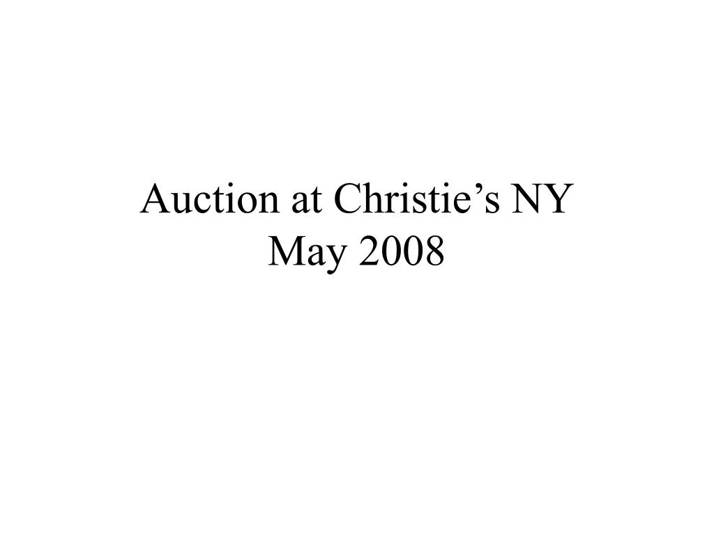 Auction at Christie's NY