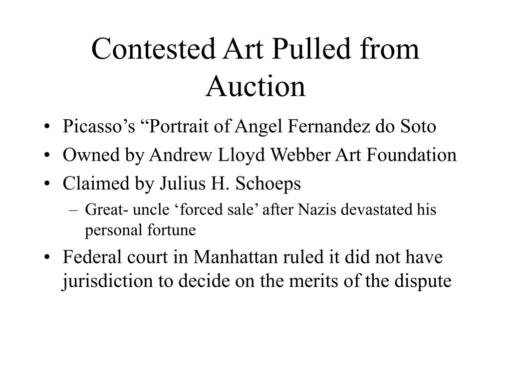 Contested Art Pulled from Auction