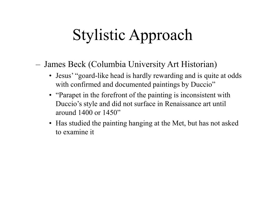 Stylistic Approach