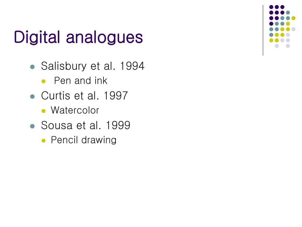 Digital analogues