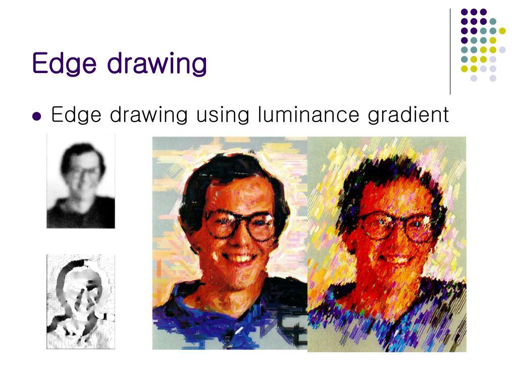 Edge drawing