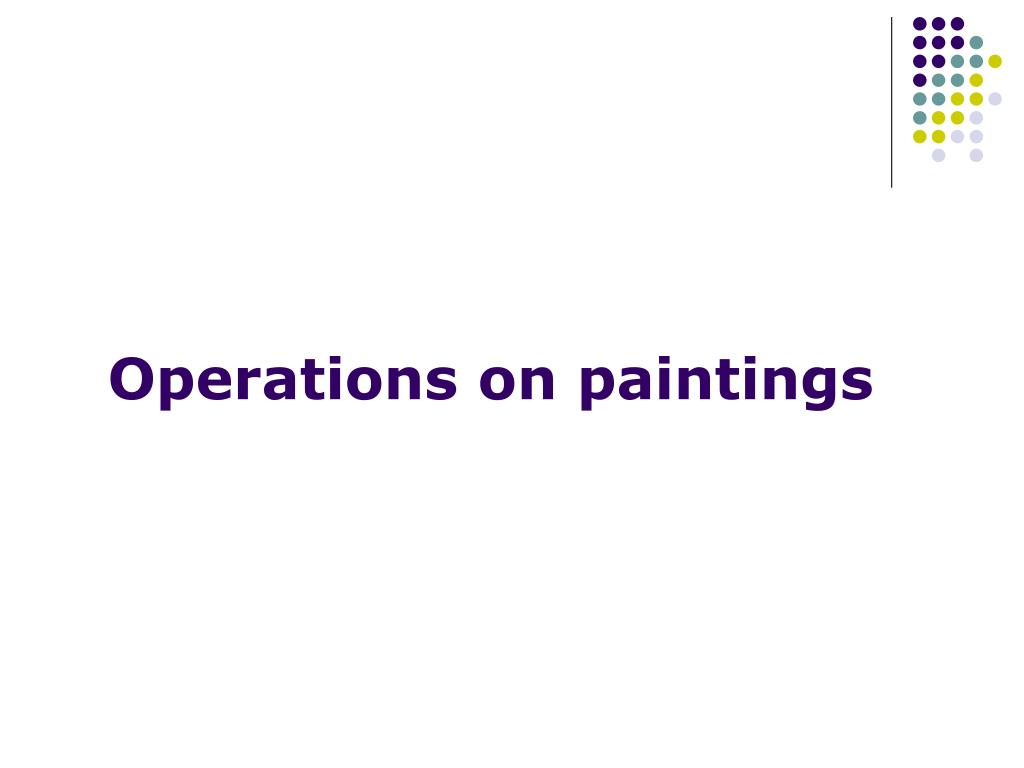Operations on paintings
