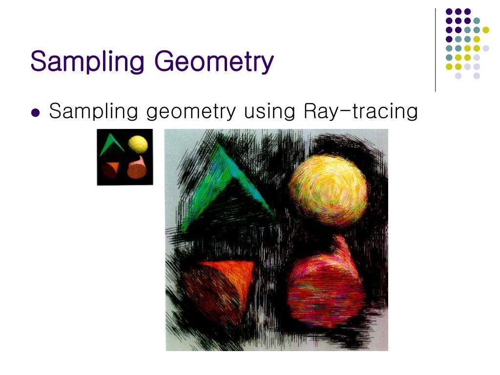 Sampling Geometry