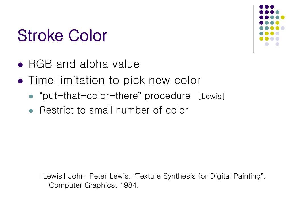 Stroke Color