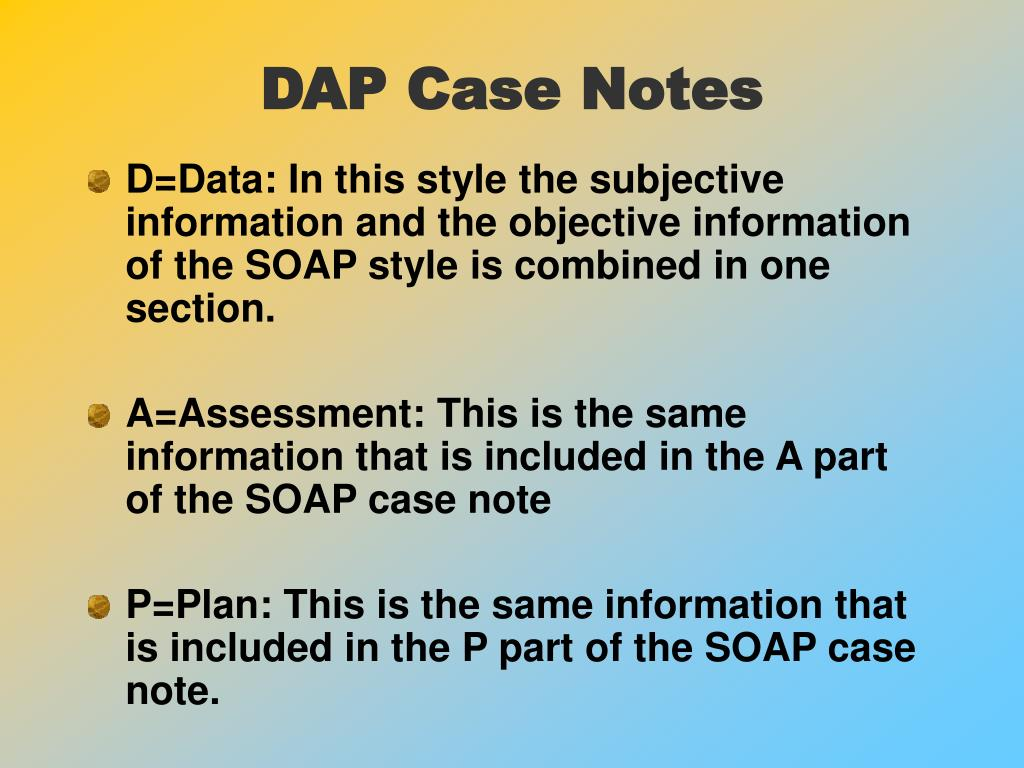 DAP Case Notes