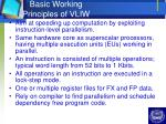 basic working principles of vliw