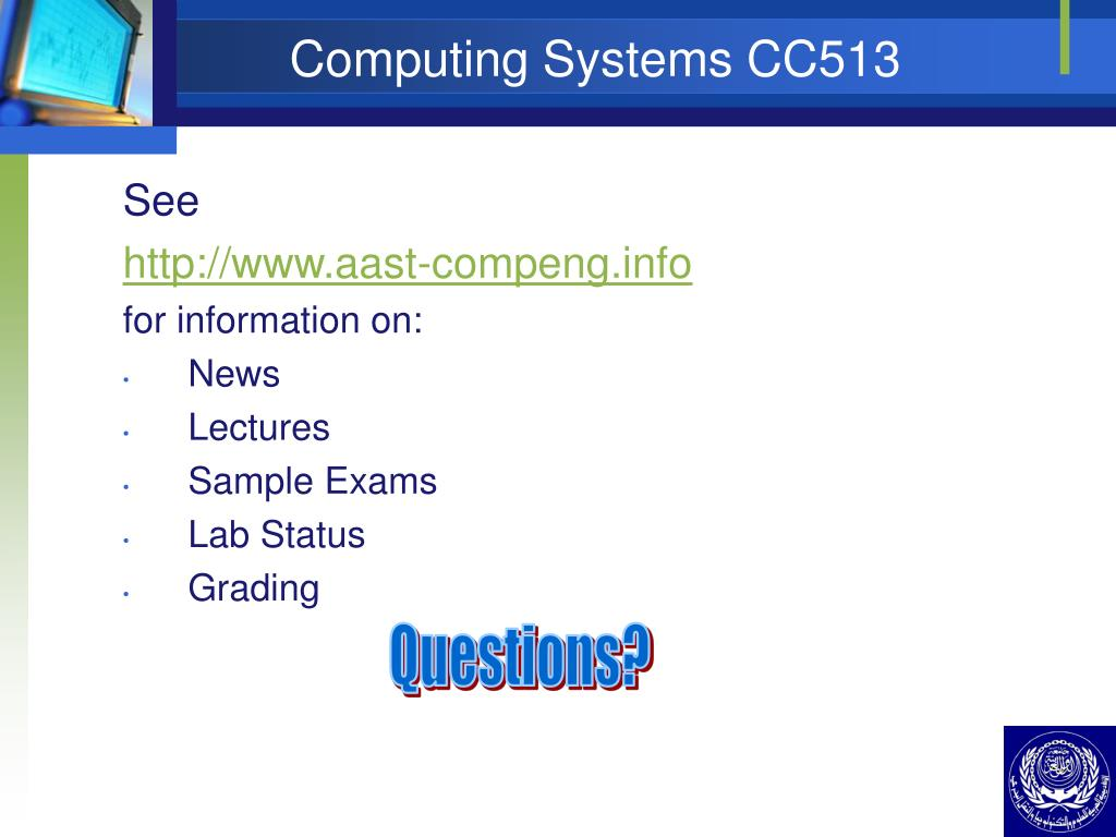 Computing Systems CC513