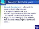 instruction scheduling cont