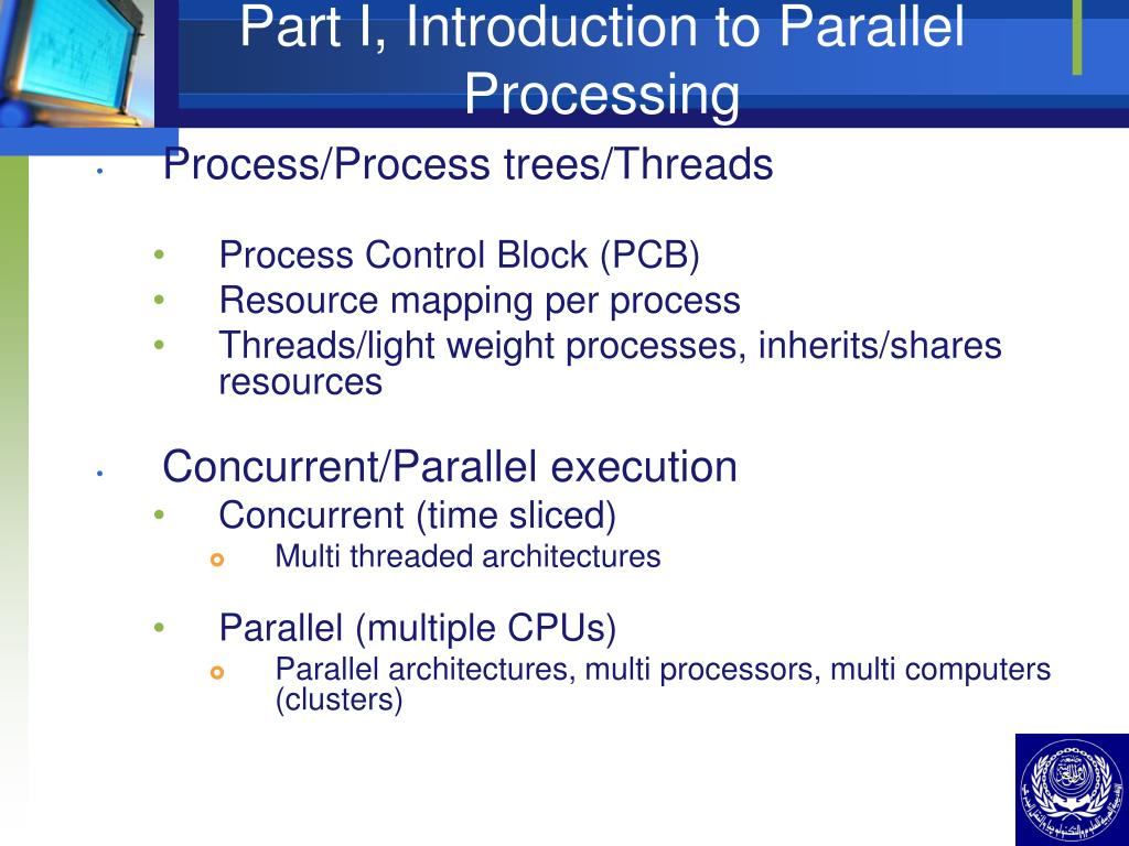 Part I, Introduction to Parallel Processing