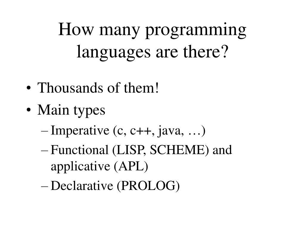 How many programming languages are there?