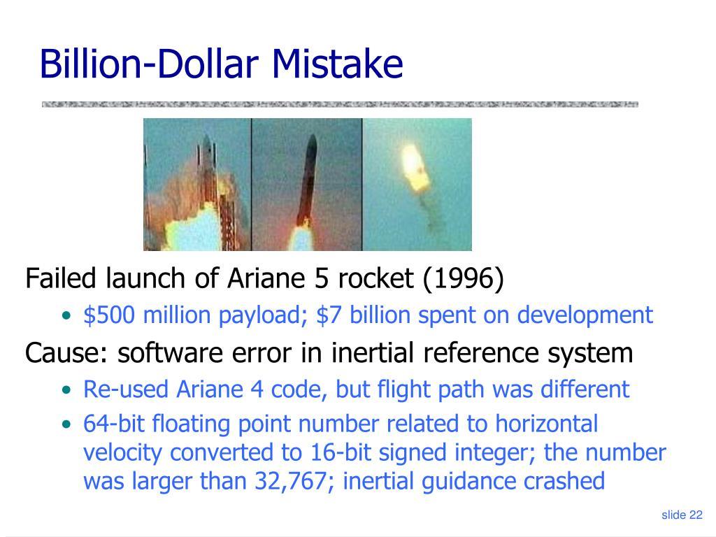 Billion-Dollar Mistake