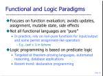 functional and logic paradigms