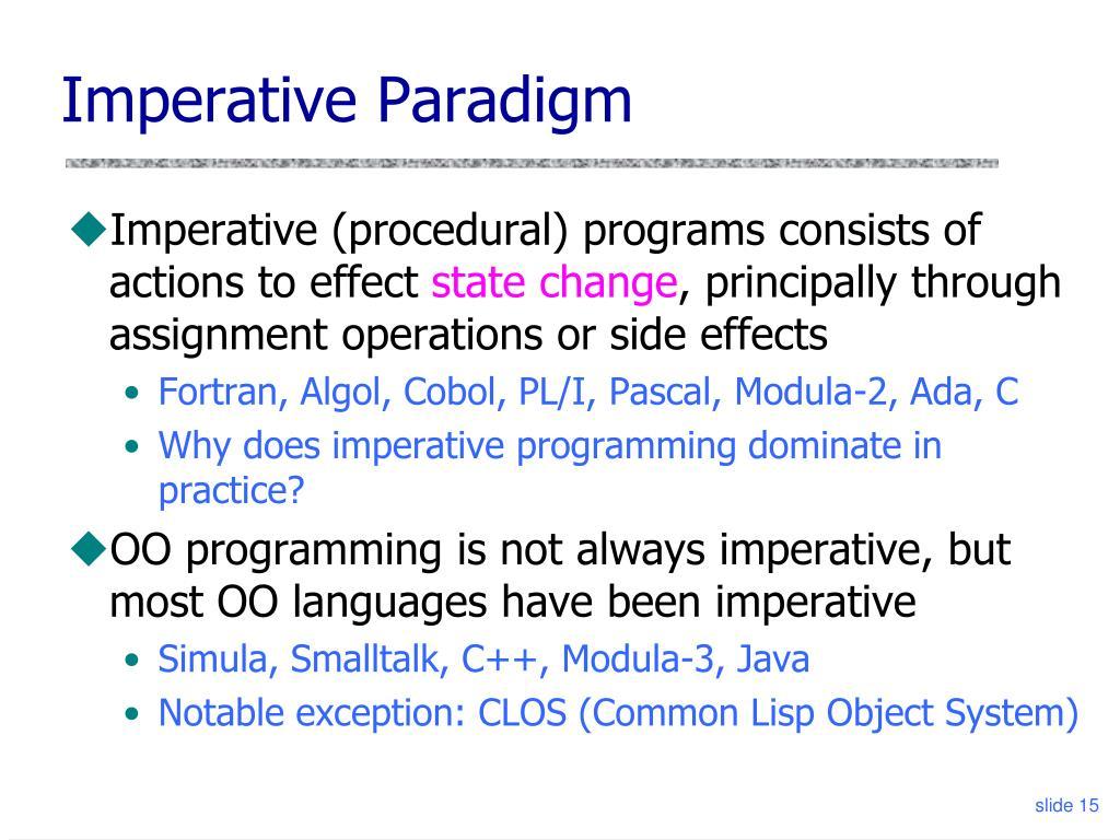 Imperative Paradigm