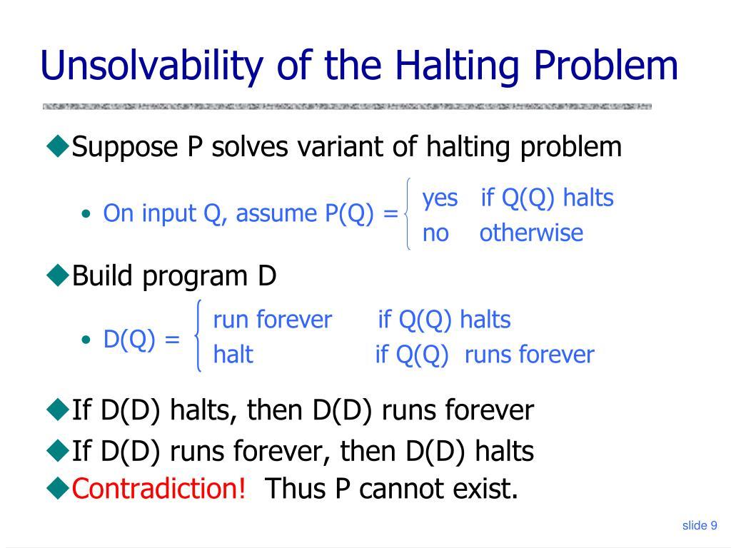 yes   if Q(Q) halts