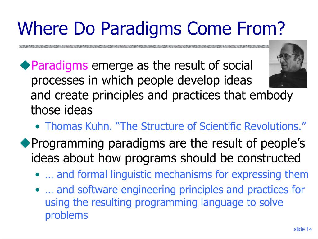 Where Do Paradigms Come From?