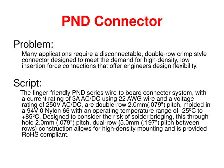 Pnd connector1