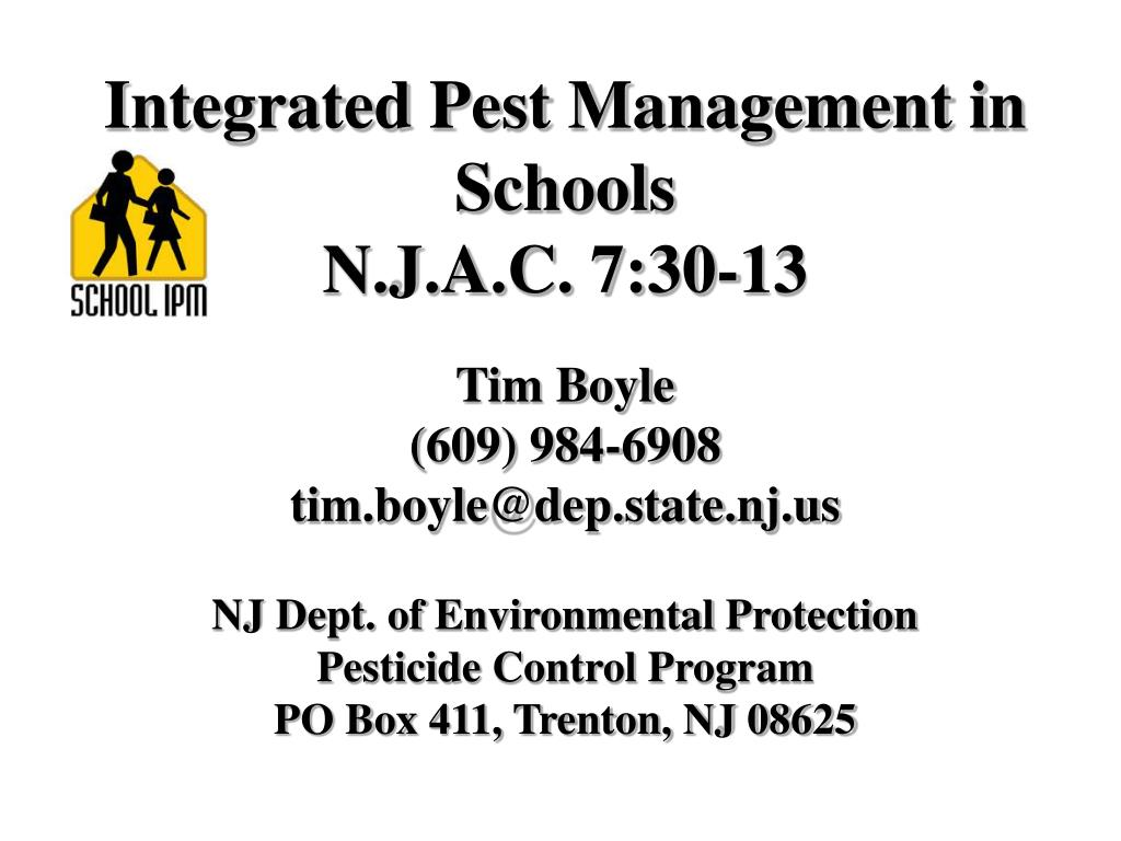 Integrated Pest Management in Schools
