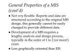 general properties of a mis cont d13