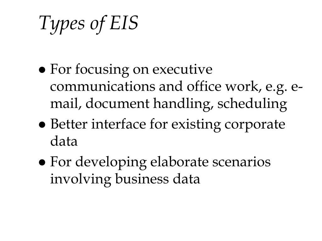 Types of EIS