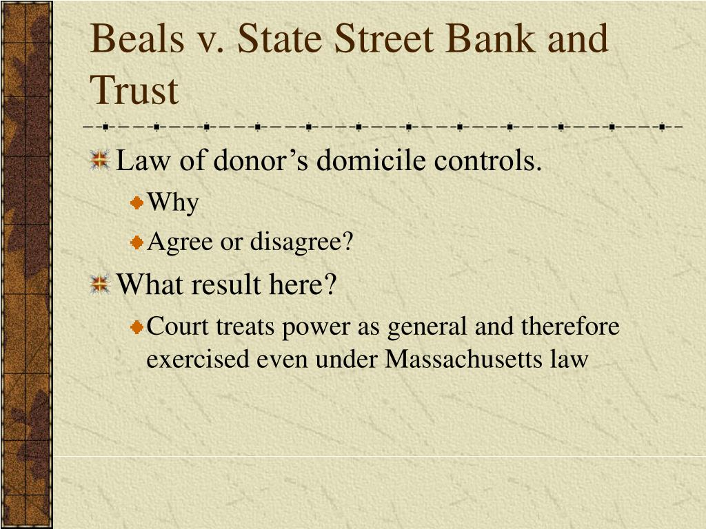 Beals v. State Street Bank and Trust