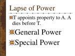 lapse of power