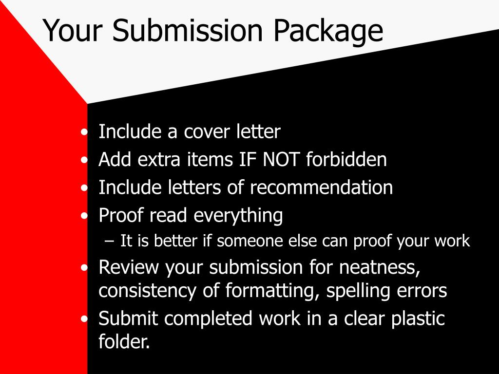 Your Submission Package