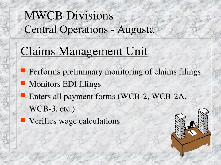 Mwcb divisions central operations augusta