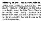 history of the treasurer s office