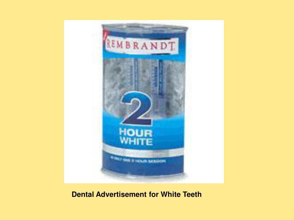 Dental Advertisement for White Teeth