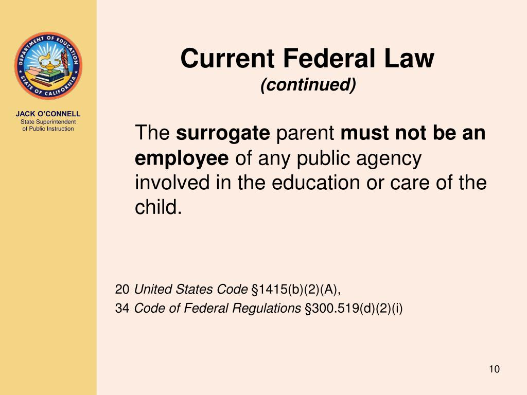 Current Federal Law