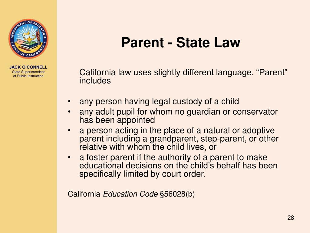 Parent - State Law