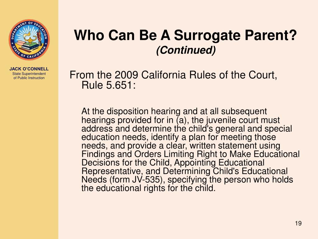 Who Can Be A Surrogate Parent?