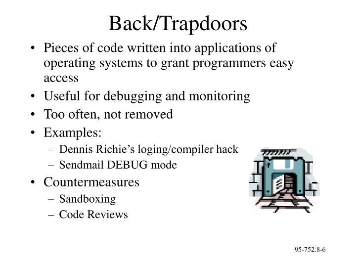 Back/Trapdoors