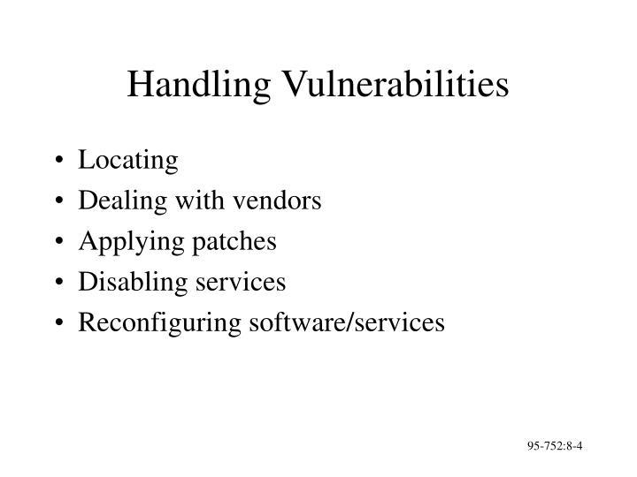 Handling Vulnerabilities