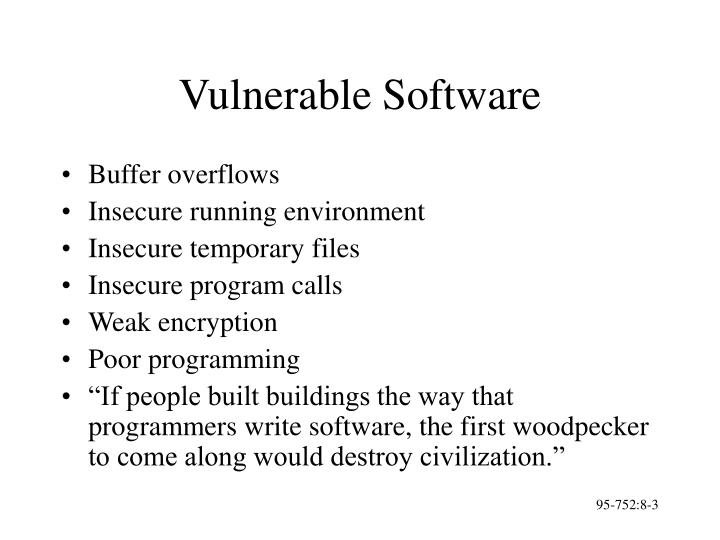 Vulnerable software