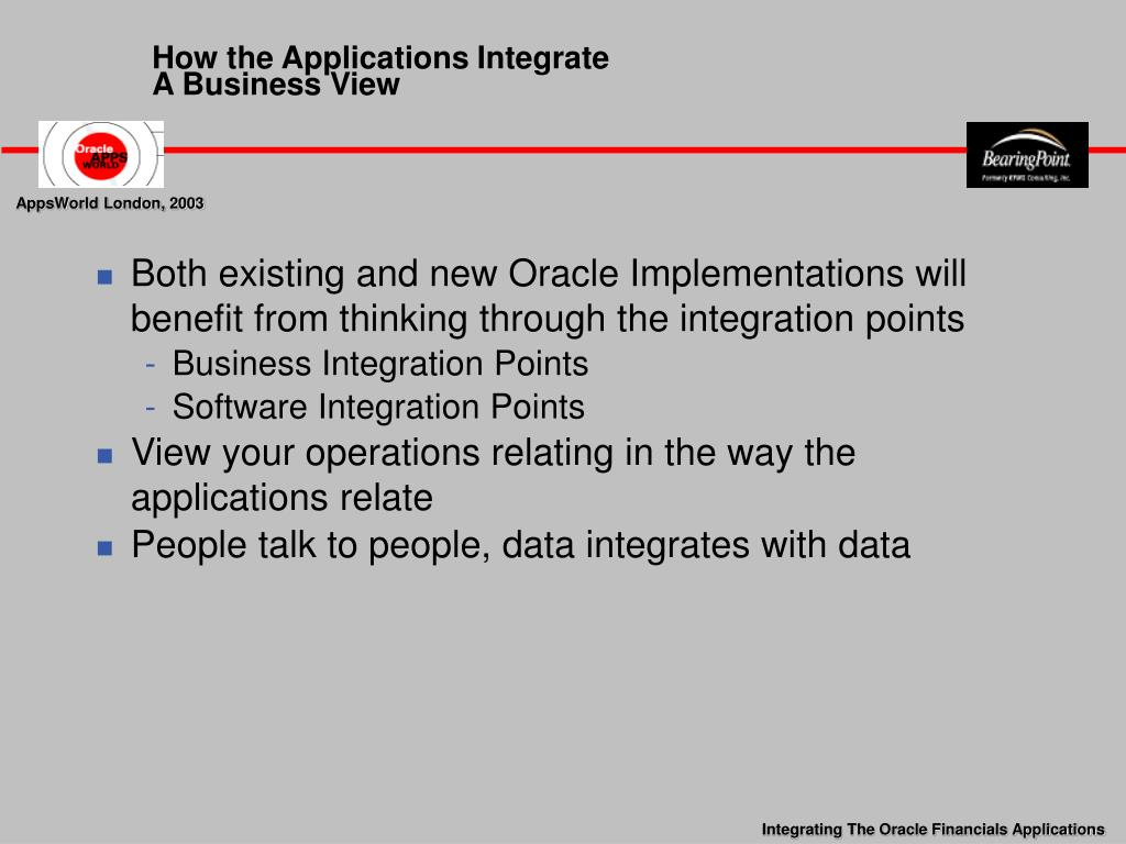 How the Applications Integrate