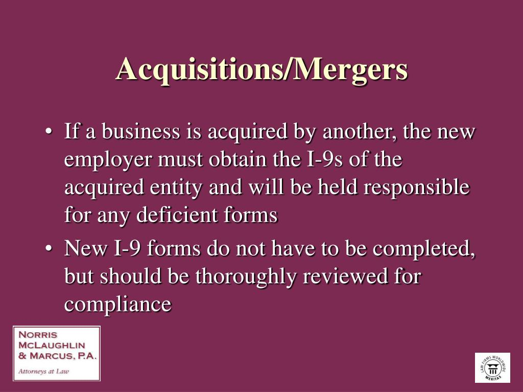 Acquisitions/Mergers