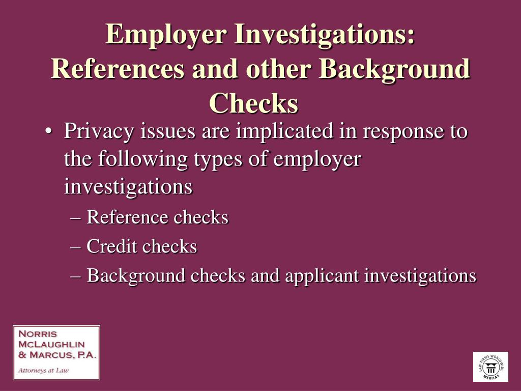 Employer Investigations: