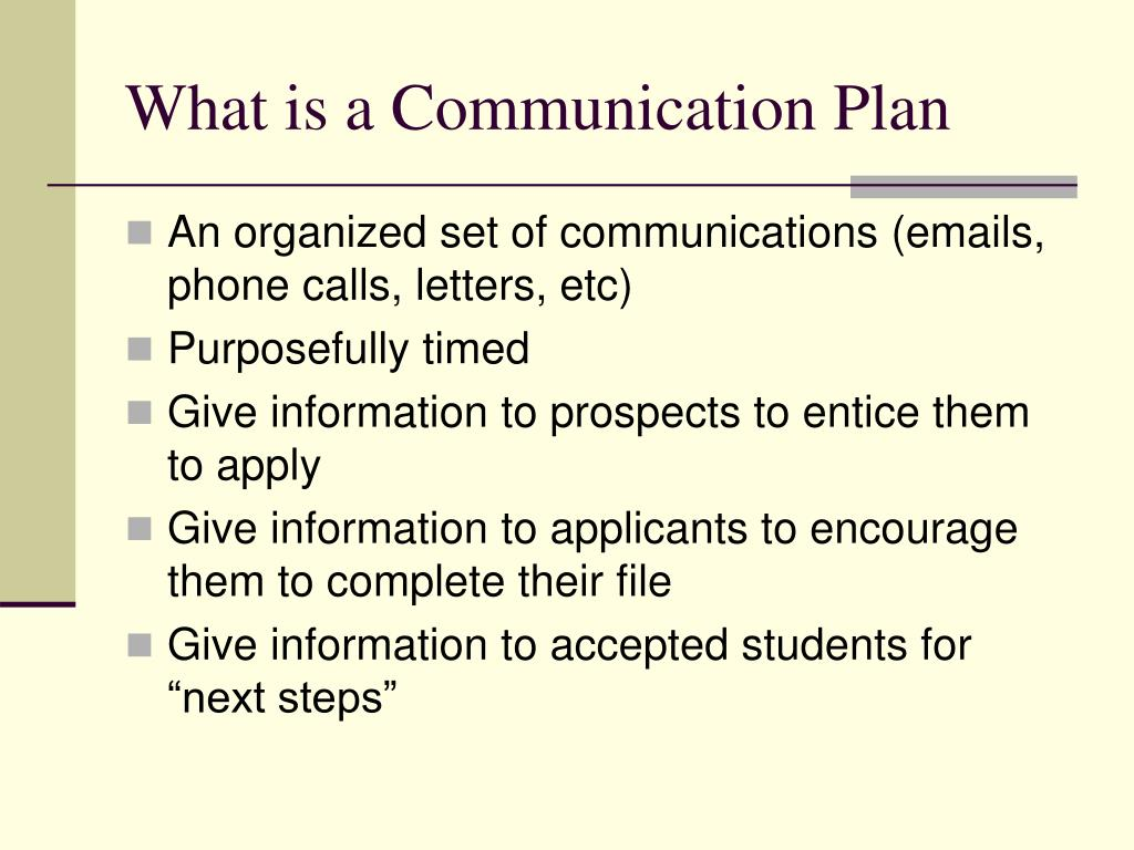 What is a Communication Plan