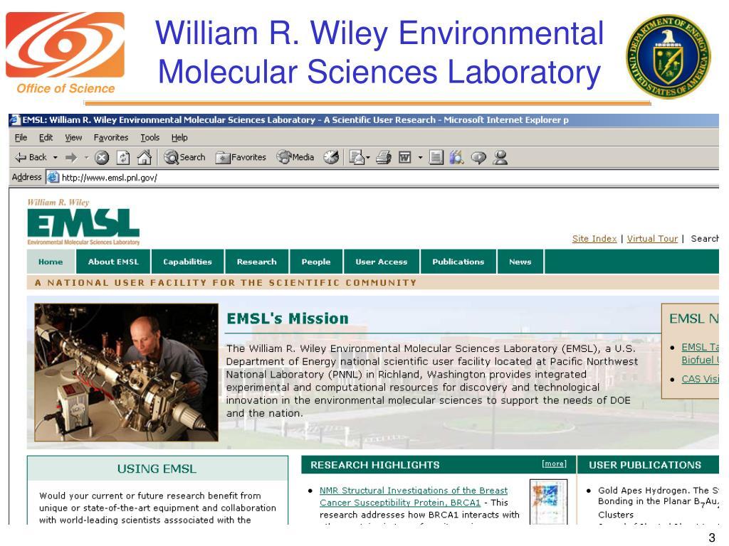 William R. Wiley Environmental Molecular Sciences Laboratory