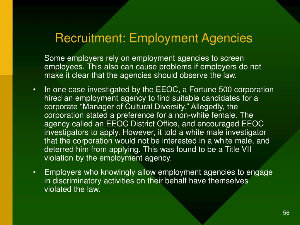 Recruitment: Employment Agencies