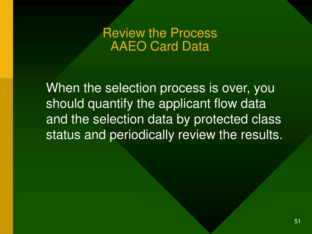 Review the Process
