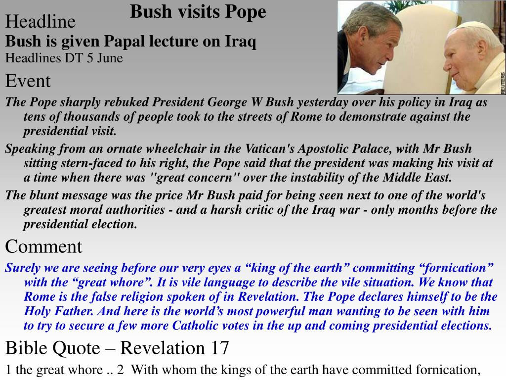 Bush visits Pope