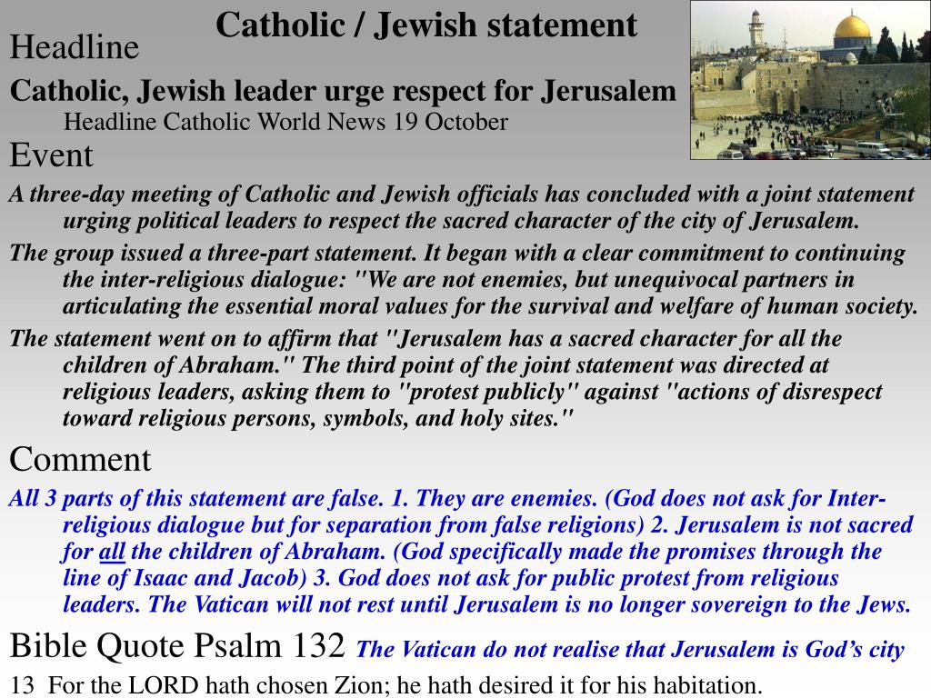 Catholic / Jewish statement