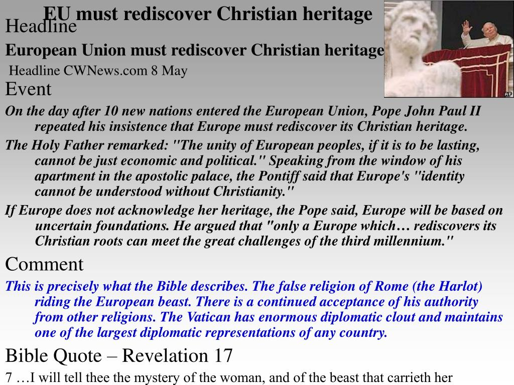 EU must rediscover Christian heritage