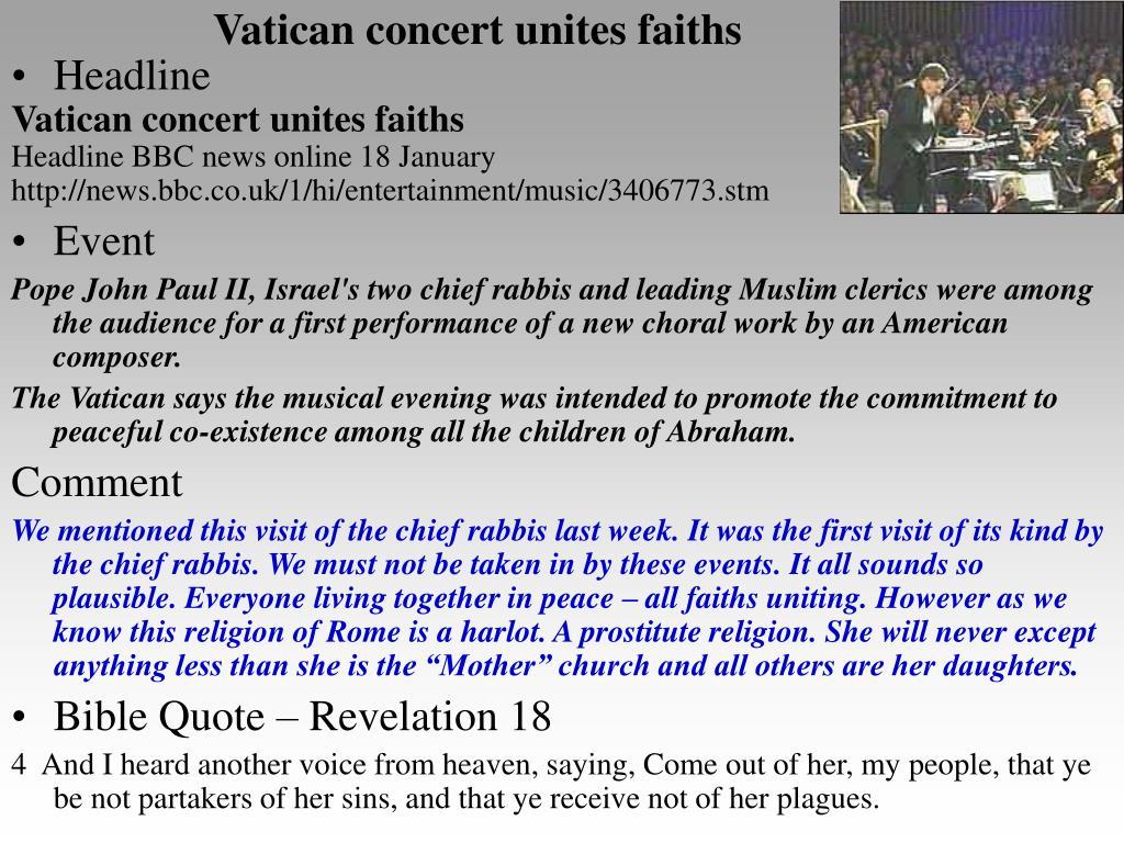 Vatican concert unites faiths