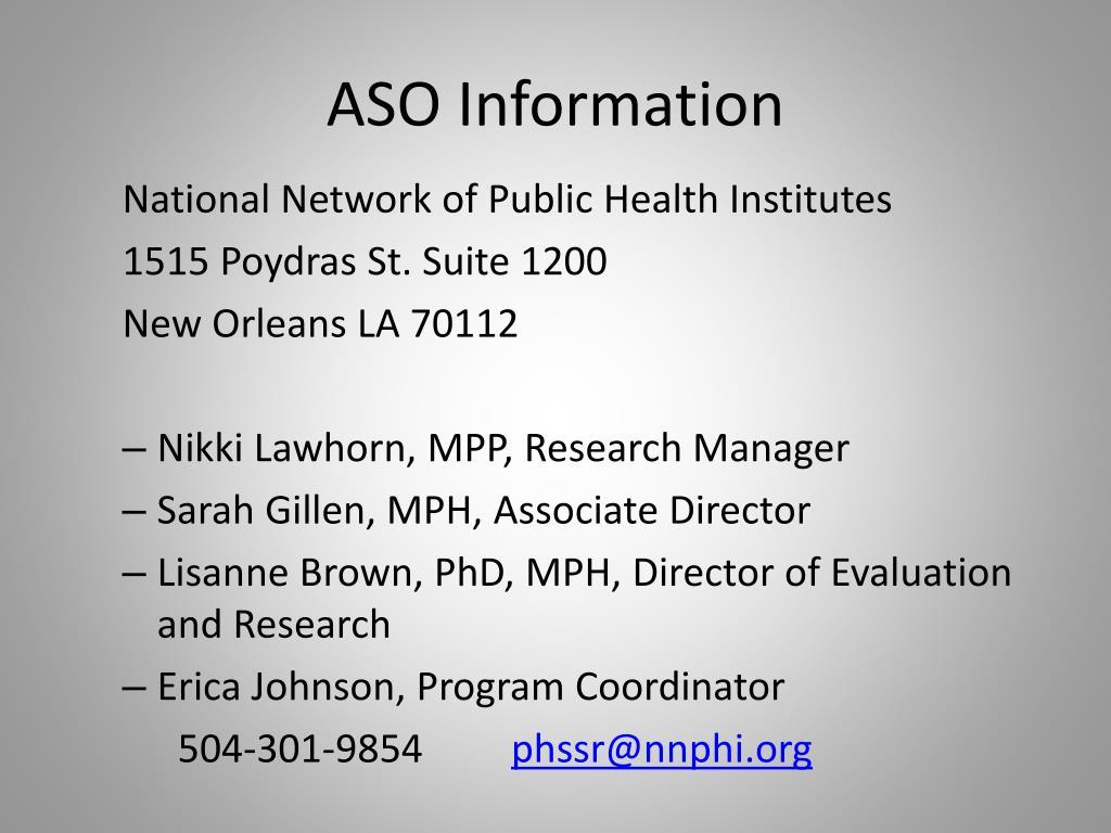 ASO Information