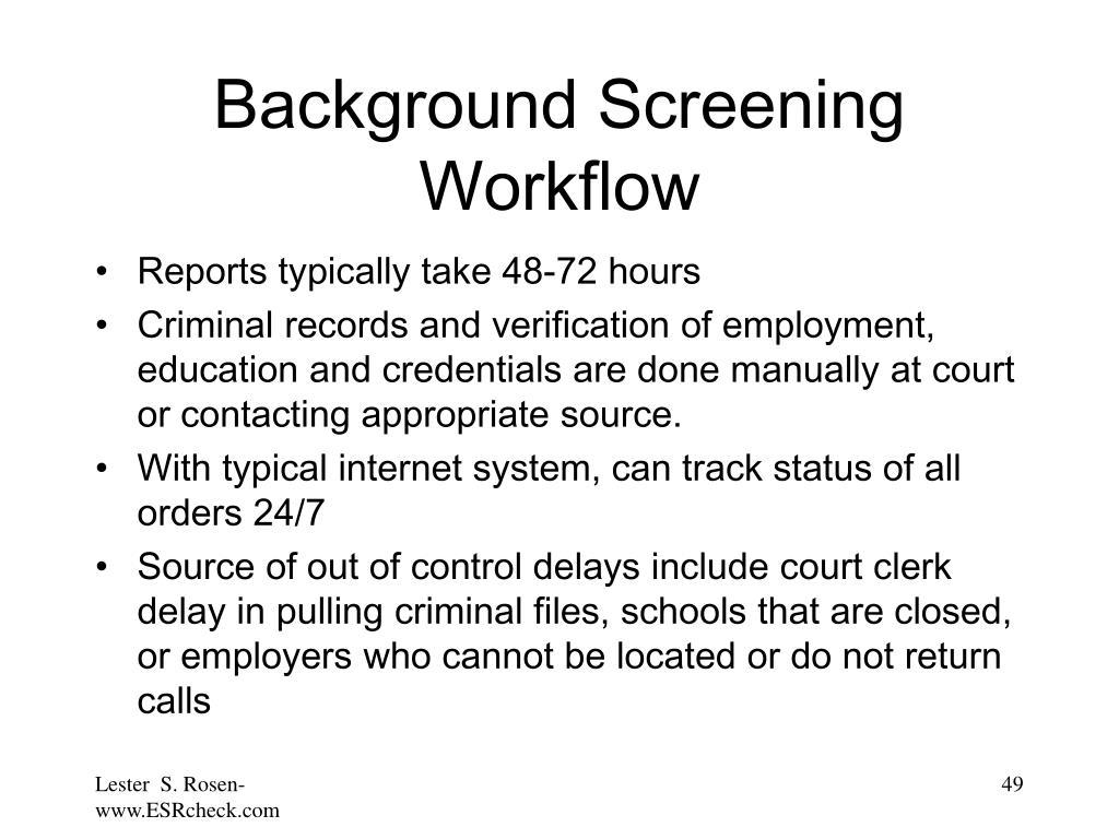 Background Screening Workflow