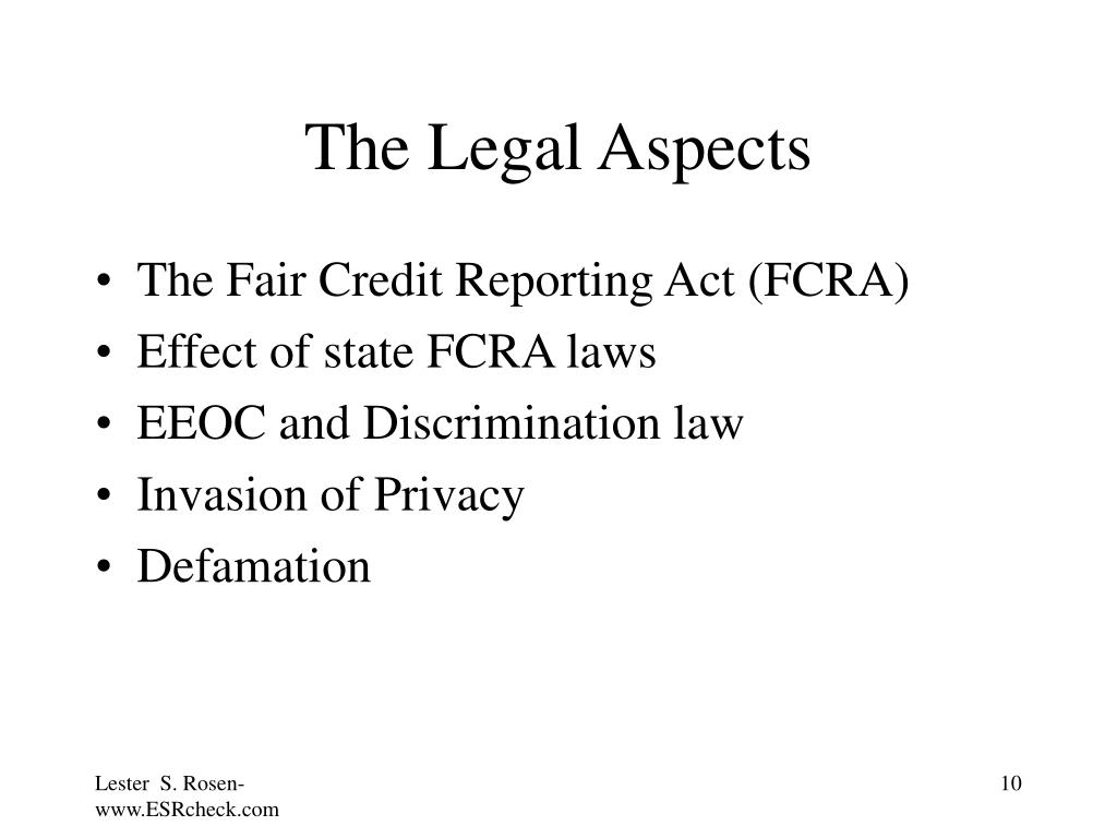 The Legal Aspects